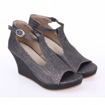 Raindoz Sepatu Wedges RDOx406 Full Black