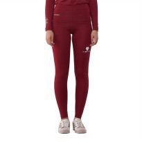 Tiento Base Layer Legging Rashguard Compression Tight Unisex Long Pants Maroon White Original