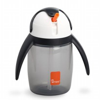 Umee Penguin U-Cool Straw Cup 240ml - Grey