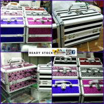 BEAUTY CASE KOTAK KOSMETIK TAS MAKE UP KECIL SUSUN MOTIF PRO MUA