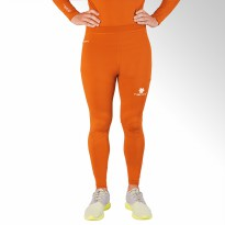 Tiento Base Layer Legging Rashguard Compression Tight Unisex Long Pants Orange Silver Original