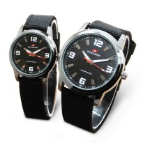 [DAPAT 2 JAM] [COUPLE SET] Swiss Army Jam Tangan Couple TW2131 Canvas
