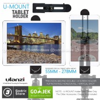 ULANZI Ipad Air Pro Mini Tablet Holder Mount 360 Degree Rotating Horizontal Vertical 1/4 Screw