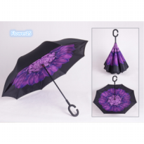 Payung Terbalik Gagang C Reverse Umbrella free bubble packing Elegan12
