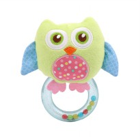 Mainan Bayi Rattle Toet Happy Monkey Green Owl