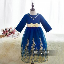 TongTongMi Blue Dress with Necklace