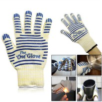 [globalbuy] 1pcs Antiskid and Anti Hot Gloves Heat Resistant Microwave Oven Gloves/2713605