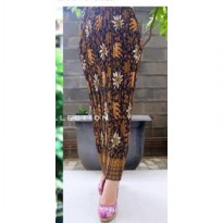 Cj collection Rok span plisket panjang batik wanita jumbo long skirt Elia
