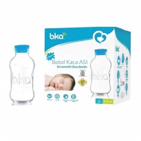 BKA Breastmilk Bottle Botol Kaca ASI Bayi Tutup Karet 100ml isi 4