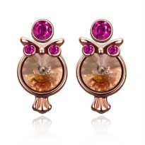 Tiaria Earrings AKE072 Aksesoris Anting Lapis Emas owl Stud Earing Rose