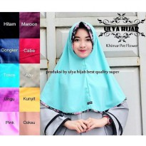 Jilbab Instant Simple Khimar Pet Flower bahan wolpis