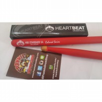 HeartBeat HBS5AHACR - 5A Red HBS Standard Acorn Tip Hickory Stick Drum