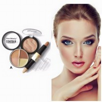 Shimmer Contour Concealer 3in1 Kiss Beauty / Contouring 3in1