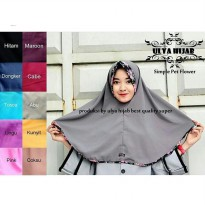 Jilbab Instant simple pet flower bahan wolpis
