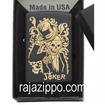 Zippo Original USA 29632 Joker Skeleton Bronze - Stok Lengkap & Resmi