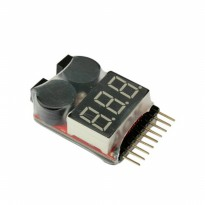 Tester Low Alarm Voltage - 1-8S Lipo Checker