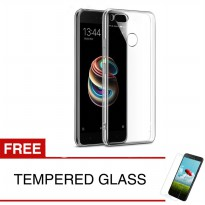 Crystal Case for Xiaomi Mi A1 / Android One - Clear Hardcase + Gratis Tempered Glass