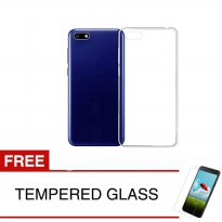 Case for Oppo Realme C1 - 6.2 inch - Clear + Gratis Tempered Glass - Ultra Thin Soft Case