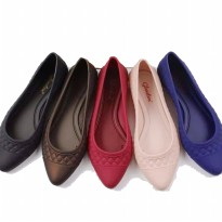Flat Shoes Murah - Sepatu Jelly Balet Flat / Jelly Shoes Flat