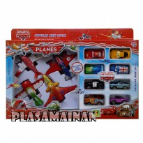 Super Planes die cast pull back 5884 - Mainan anak 12 pcs - ages 3+