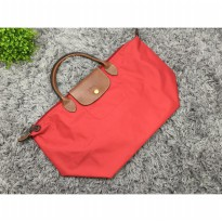 Tas Wanita Import Longchamp Classic Large Short Handle - Red