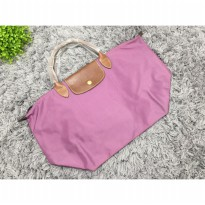 Tas Wanita Import Longchamp Classic Large Short Handle - Purple