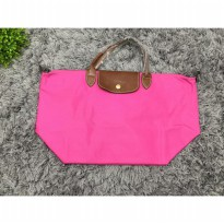 Tas Wanita Import Longchamp Classic Large Short Handle - Pink