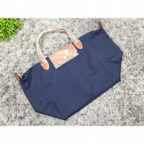 Tas Wanita Import Longchamp Classic Large Short Handle - Navy