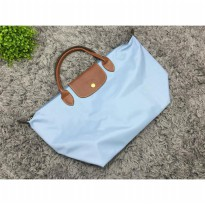 Tas Wanita Import Longchamp Classic Large Short Handle - Blue