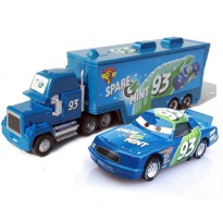 [globalbuy] Kids Cute car toys Metal No.93 Uncle Jimmy Race Car Driver Container Truck and/2935067