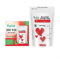 Malish Breast Milk Bags Red 100ml - Kantong ASI