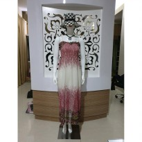 Baju fashion wanita terusan longdress sifon keren import second hand sekend