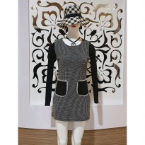 Baju fashion wanita terusan mini dress rajut wool import best seller