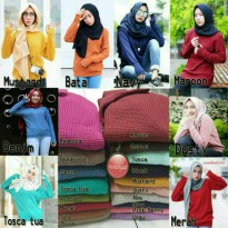 Roundhand Sweater rajut tebal 100% READY STOK