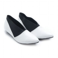 Dr. Kevin Women Flats Shoes PU Leather Delphinium 43208 White