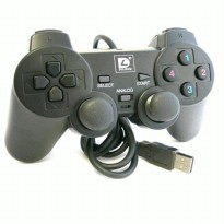 GAMEPAD SINGLE USB GETAR HITAM