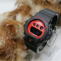 Grosir! G SHOCK DW 6500 BLACK COVER RED