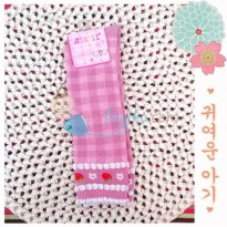 Mi Boll Baby Socks Plaid Strawberry Size 15 - 19cm Color Pink