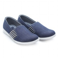 Dr.Kevin Ladies Slip-On Shoes 43154 Navy