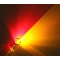 Led 5.0mm Bi-Color RED-YELLOW Round Clear R:5000 Y:3000 mCd Led