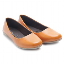Dr. Kevin Women Flats Shoes PU Leather Calendula 43192 Tan