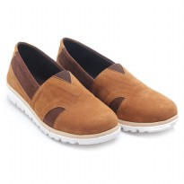 Dr.Kevin Ladies Slip-On Shoes 43191 Tan