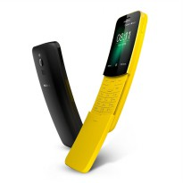 NOKIA 8110 4G - 4GB RAM 512MB - 2MP - Traditional Black, Banana Yellow - Hitam