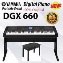 Digital Piano Yamaha DGX 660 + Bangku Piano Garansi Resmi 1th