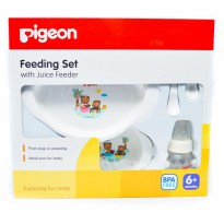 Pigeon Feeding Set With Juice Feeder - Tempat makan bayi - 6M+