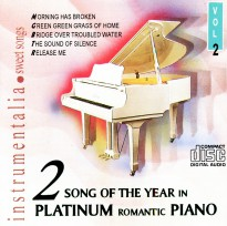 CD Song of The Year in Platinum Romantic Piano Vol. 2