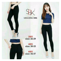 Ukuran 30-33 SBK 4001, Legging Black