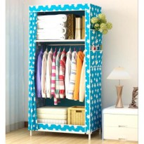 Lemari pakaian single Multifunction Wardrobe rak baju pakaian single storage rack organizer