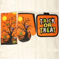 [globalbuy] Owl pattern Halloween kitchen gift home baking oven mitts Placemats / bowl mat/2713026