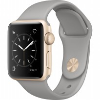 Apple Watch 2 Series 2 Aluminium Smartwatch with Concrete Sport Band - Gold [38 mm]